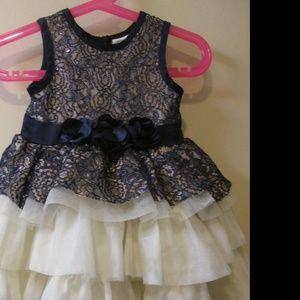 NANETTE LEPORE FANCY DRESS. 18 MONTHS . BLUE LACE